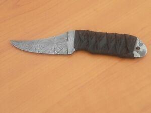 //CUSTOM HAND FORGE PURE  Damascus Steel  Blade Hunting Knife,,0271