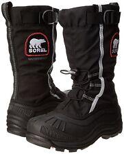 New in Box Sorel Women's Alpha Pac XT Boot Black/Red Quartz Size 9 SNOW BOOTS