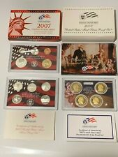 2007-S US Mint SILVER PROOF Set 14 Coins w/ State Quarters & U.S. President $1