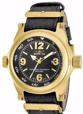 New Mens Invicta 17668 I-force Big 53mm Gold Black Military Style Watch