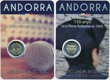 Andorra 2 € Euro GM 2016 BU im Blister, 25 Jahre Rundfunk und Reform von 1866