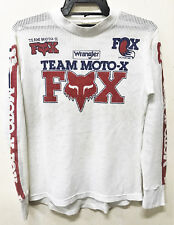 VINTAGE 70/80s TEAM MOTO-X FOX RACING MOTOCROSS MESH JERSEY SHIRT T DIRT BIKE