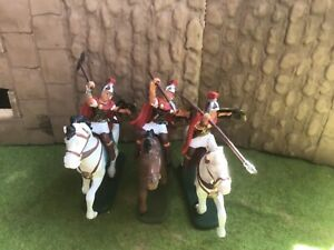 3 Ancient Roman Auxiliary cavalry. Atlantic 60mm plastic toy soldiers