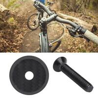 Durable Carbon Fiber Headset Stem Top Cap Bolt with Screw for Road Mountain Bike