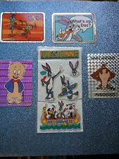 Looney Tunes Prism/Foil/Puffy Stickers from 90's - 8pcs LOT (RARE/HTF)