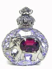 Luxury Vintage Czech Handmade ELEPHANT Rhinestones Glass Perfume bottle D 2