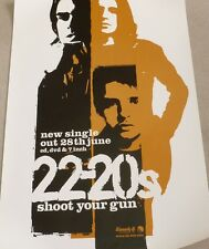 The 22-20's - Shoot your gun  VINTAGE ORIGINAL PROMOTIONAL MUSIC POSTER