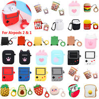 AirPods Cartoon Silicone Keychain Protective Case Cover Skin for Airpods 2&1 Lot
