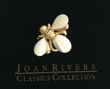 Pearl Bee Pin Brooch J443 Joan Rivers Sim. Mother Of