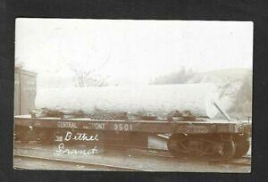 1909 Bethel,VT - Bethel Granite Railroad Real Photo Postcard