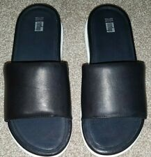 BNIB Fitflop Loosh Luxe Limited Edition Sliders Mules - UK 7 - Black Leather
