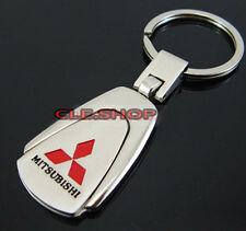 MITSUBISHI KEY CHAIN CHROME KEY RING Keychain Keyring OUTLANDER PAJERO