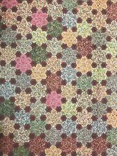 "New listing Vintage Yo Yo Flower Handmade Quilt Twin Bedspread Cotton 76""x94"" Excellent Cond"