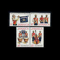 Jamaica, Sc #431-34, MNH, 1977, Military Band, Flags, FII-A