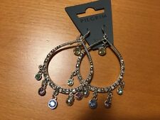 Pilgrim Earrings Hoops SWAROVSKI NWT exclusive Danish Design HTF Aros