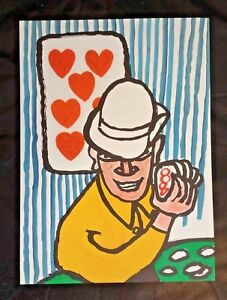 ALEXANDER CALDER: Card Player Poker Lithoography - 1975 DERRIÈRE LE MIROIR