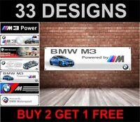 BMW M3 Officina Banner Garage PVC Stemma
