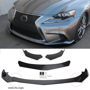 For Lexus GS250 GS350 IS250 IS350 Front Bumper Lip Spoiler Splitters Gloss Black