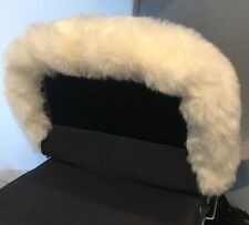 White Hood Fur Trim for Silver Cross Kensington and Dolls Coach Built Pram