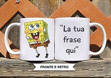 Tazza ceramica SPONGEBOB 3 CON FRASE PERSONALIZZATA ceramic mug