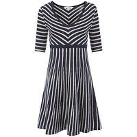 Boden Ladies Stylish Navy Dress BNWT 6 8 8L  Wool Cotton