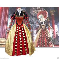 Alice in Wonderland Queen of Hearts Adult Cosplay Costume Halloween Fancy Dress