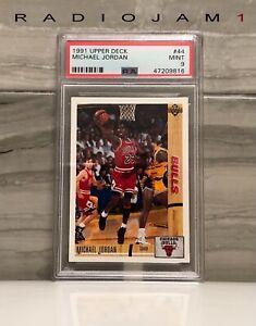 1991 Upper Deck Basketball MICHAEL JORDAN  #44 CHICAGO BULLS PSA 9 Mint