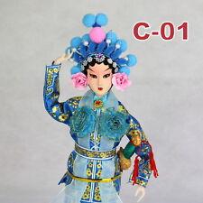 C-01 China Peking Oper chinesisch Puppe Figur Seide 31 cm Neu Geschenkidee OVP