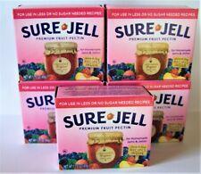 5 Boxes SURE JELL Premium Fruit Pectin LOW or NO SUGAR Recipes 1.75oz EXP 8/22