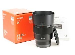Sony FE 85mm F1.8 Prime Full Frame Lens - Sony E Mount - Boxed, Both Caps & Hood