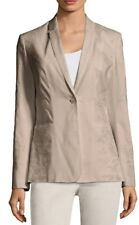 Elie Tahari Bonnie Cork Embroidered Linen Blend Blazer Jacket - Sz 12 (L Large)