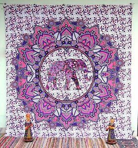 Indian Mandala Tapestry Hippie Tapestries Wall Hanging Queen Bedspread Elephant