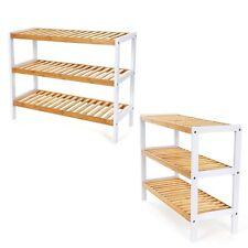 Sitzbänke Badregal Schuhregal Handtuchregal Standregal Bambus 70x55x25 cm LBS03H