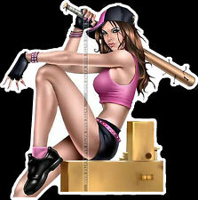 FRIDGE TOOL BOX MAGNET PIN UP GIRL - HOT GIRL BASEBALL PLAYER BAT SEXY LEGS CUTE