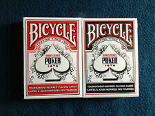 Bicycle World Series of Poker playing card set! Red and Black! 2 decks