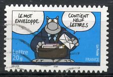 STAMP / TIMBRE FRANCE OBLITERE N° 3833 SOURIRE / LE CHAT / DE P. GELUCK