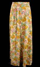 Vintage 1960'S-70'S Long Cotton Floral Skirt Size 9