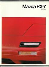 MAZDA RX-7  TURBO COUPE & CABRIOLET SALES BROCHURE JULY 1989 FOR 1990 MODEL YEAR