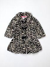 Toddler Girl Widgeon Soft Faux Fur Zebra Print Winter Coat Jacket Size 3T