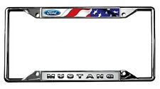 New Ford Mustang with Flag License Plate Frame