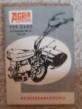 Agria einachser 2400 Manuel