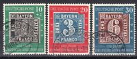 Germany 1949 rare set of stamps, Michel #113 - 115, nice used.