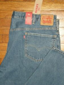 NWT LEVI'S 550 RELAXED FIT TAPERED LEG STRETCH JEANS SZ: 50 X 30