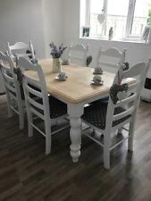 Stunning shabby chic farmhouse Oak table and chairs   DELIVERY AVAILIBLE