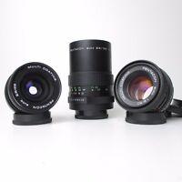3 M42 Pentacon Objektiv Teleobjektiv - Weitwinkel + Standard / lens set