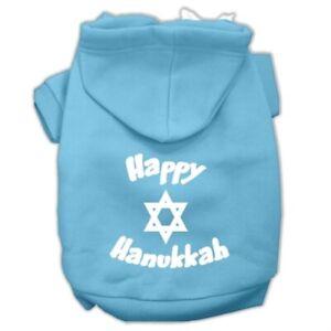 Happy Hanukkah Screen Print Pet Hoodies