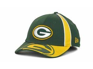New Era Green Bay Packers Flex Fit Gap Hat Cap - Team Colors