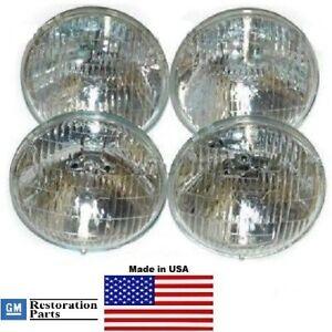 1960-1967 GM Cars T-3 / T3 Headlamp / Light Set of 4 bulbs  60-67    guide bulb