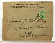 SA198  TYPE SAGE SUR LETTRE ANCIENNE OBLITERATION GARE  GARE  19°SIECLE