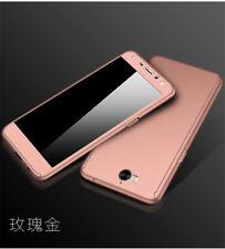 Full Cover Hybrid Case + Tempered Glass For Huawei Y5 Y6 2017 / Y7 Pro Y9 2018